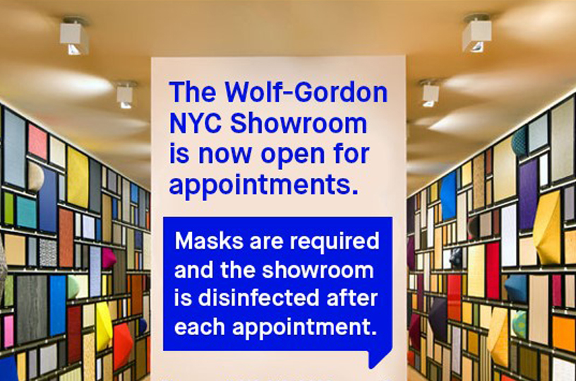 NYC Showroom Open For Appointments